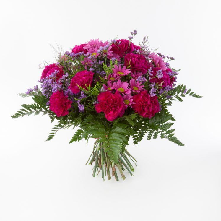 Flowers bouquet made of Chrysantemun, Carnation and Limonium.